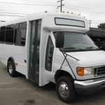 Ford E350 15 passenger charter shuttle coach bus for sale - Gas 1