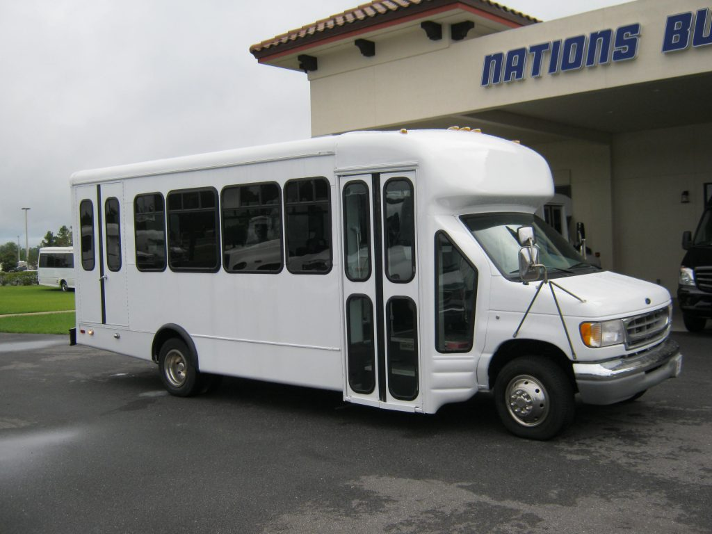 Ford E-450 16 passenger charter shuttle coach bus for sale - Gas