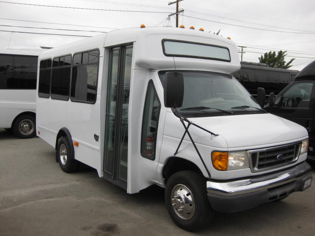 Ford E350 15 passenger charter shuttle coach bus for sale - Gas