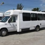Ford E450 23 passenger charter shuttle coach bus for sale - Gas 2