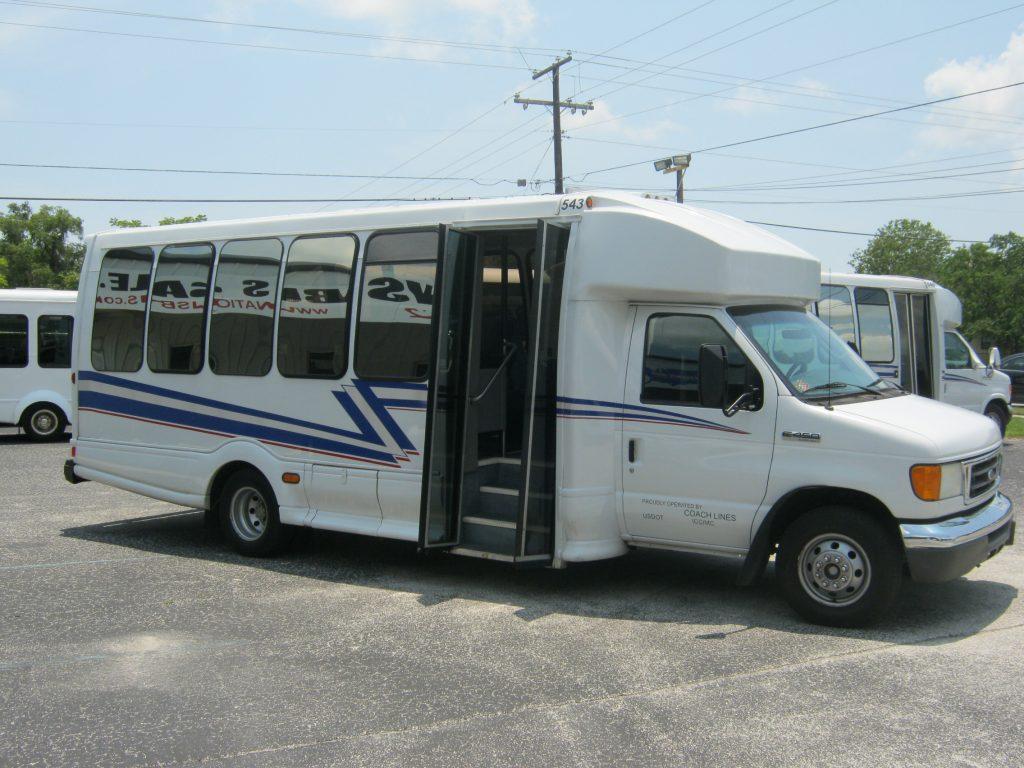 Ford E450 23 passenger charter shuttle coach bus for sale - Diesel