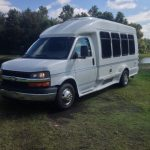 Chevy 3500 13 passenger charter shuttle coach bus for sale - Gas 4