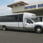 Ford F550 31 passenger charter shuttle coach bus for sale - Diesel 2