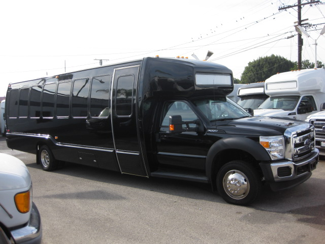 Ford F550 32 passenger charter shuttle coach bus for sale - Gas