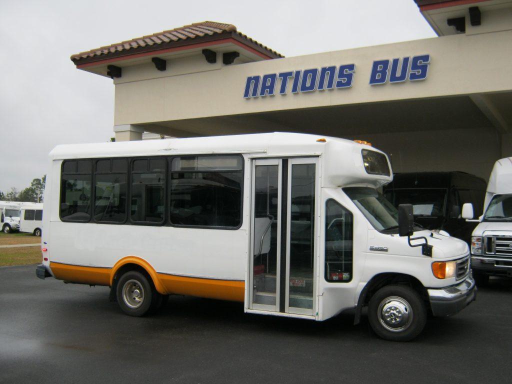 Ford E450 14 passenger charter shuttle coach bus for sale - Diesel