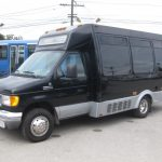 Ford E350 9 passenger charter shuttle coach bus for sale - Gas 2