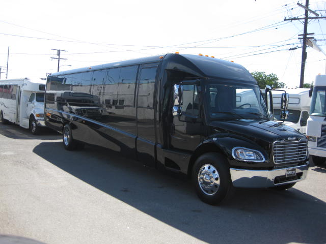 Freightliner M2 43 passenger charter shuttle coach bus for sale - Diesel