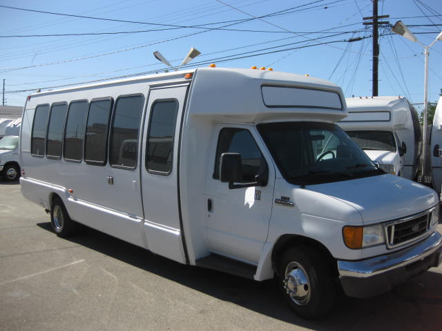 Ford E450 15 passenger charter shuttle coach bus for sale - Gas