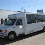 Ford E450 15 passenger charter shuttle coach bus for sale - Gas 3