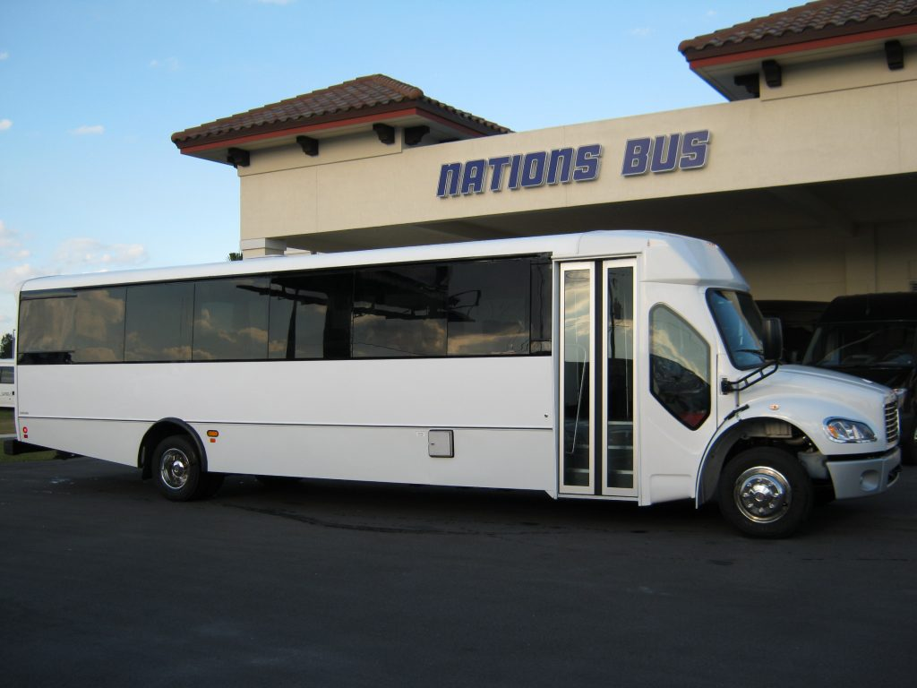 Freightliner M2 33 passenger charter shuttle coach bus for sale - Diesel