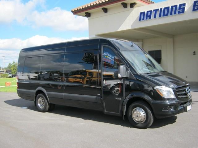Mercedes 3500 16 passenger charter shuttle coach bus for sale - Diesel