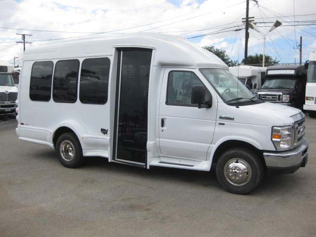 Ford E350 13 passenger charter shuttle coach bus for sale - Gas