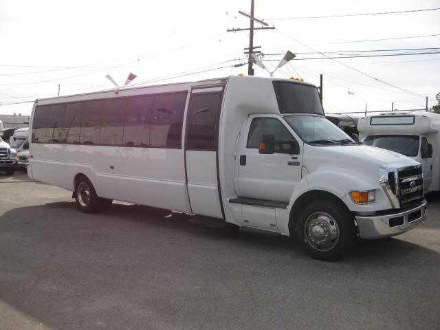 Ford F650 34 passenger charter shuttle coach bus for sale - Diesel