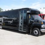 Chevy C5500 37 passenger charter shuttle coach bus for sale - Diesel 1