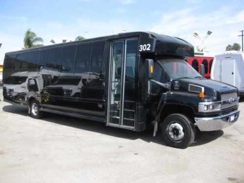 Chevy C5500 37 passenger charter shuttle coach bus for sale - Diesel