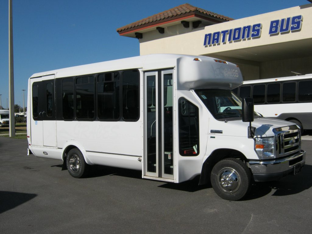 Ford E350 14 passenger charter shuttle coach bus for sale - Gas