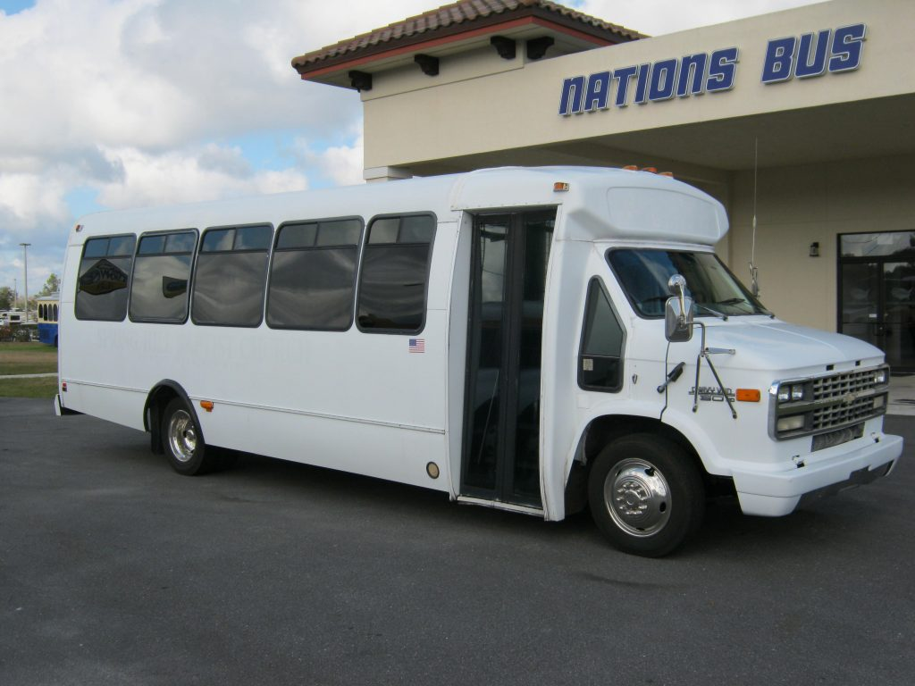Chevy 29 passenger charter shuttle coach bus for sale - Gas