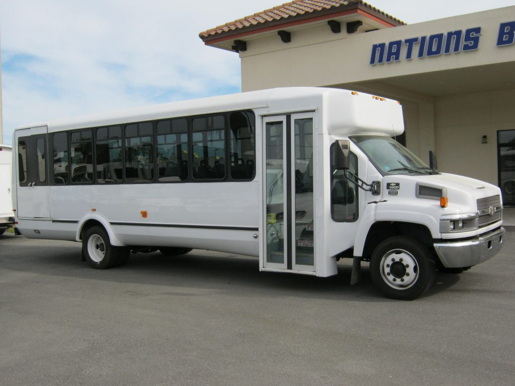 Chevy C5500 30 passenger charter shuttle coach bus for sale - Diesel