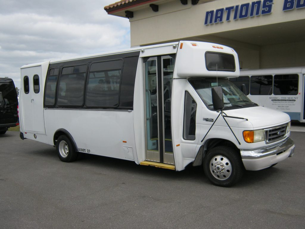 Ford E450 21 passenger charter shuttle coach bus for sale - Diesel