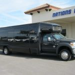 Ford F550 28 passenger charter shuttle coach bus for sale - Diesel 1