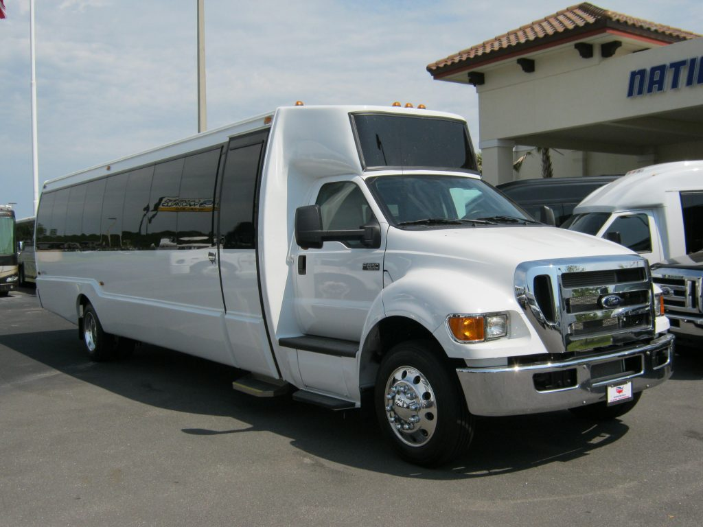 Ford F650 36 passenger charter shuttle coach bus for sale - Diesel