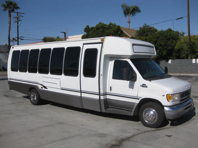 Ford E450 28 passenger charter shuttle coach bus for sale - Gas