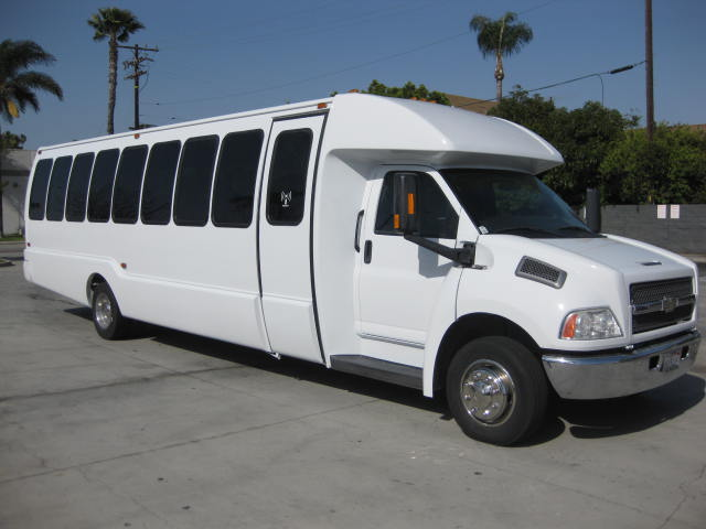 Chevy C5500 36 passenger charter shuttle coach bus for sale - Diesel