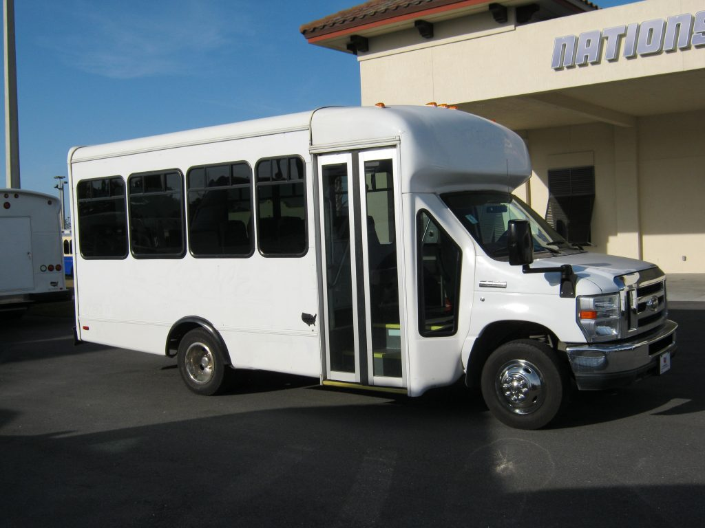 Ford E350 17 passenger charter shuttle coach bus for sale - Gas