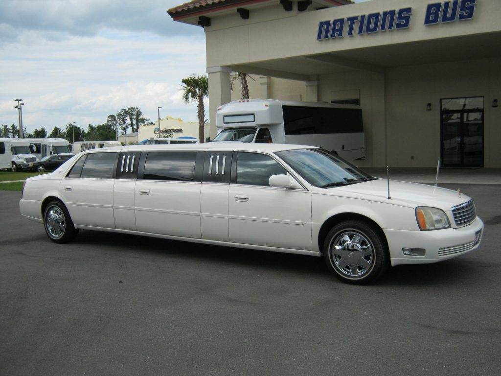 Cadillac Deville 8 passenger charter shuttle coach bus for sale - Gas