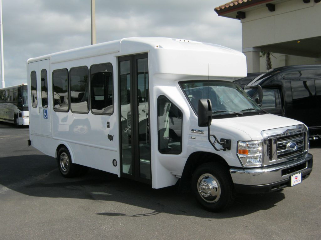 Ford E450 12 passenger charter shuttle coach bus for sale - Gas