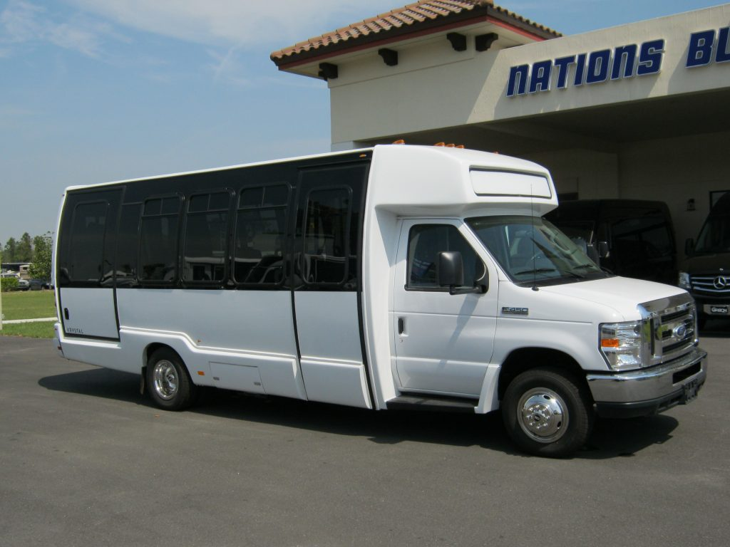 Ford E450 17 passenger charter shuttle coach bus for sale - Gas