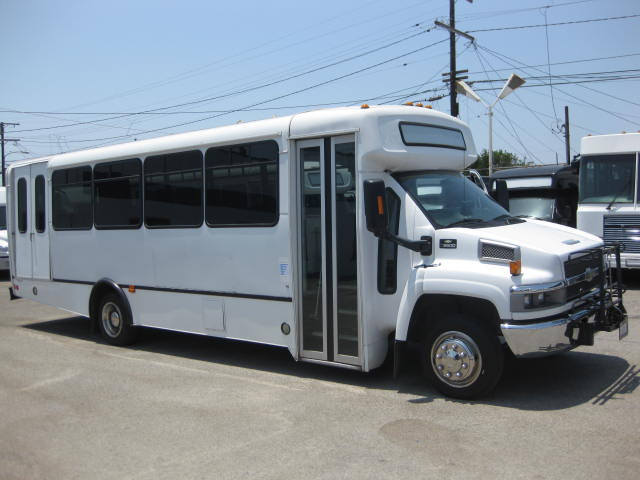 Chevy C5500 30 passenger charter shuttle coach bus for sale - Propane