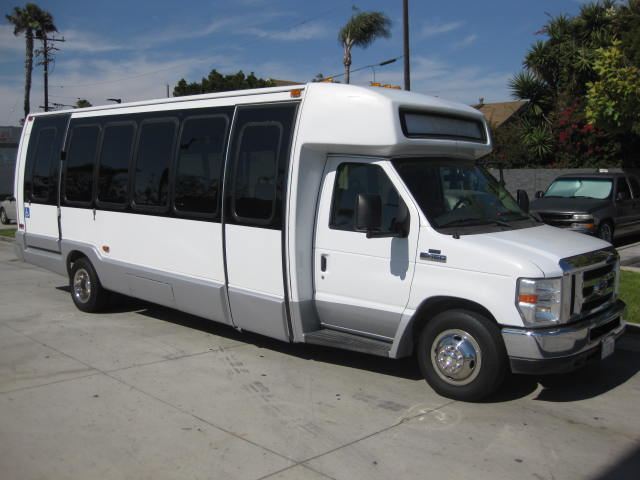 Ford E450 25 passenger charter shuttle coach bus for sale - Diesel