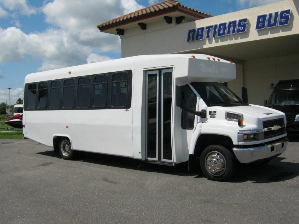 Chevy C5500 24 passenger charter shuttle coach bus for sale - Diesel