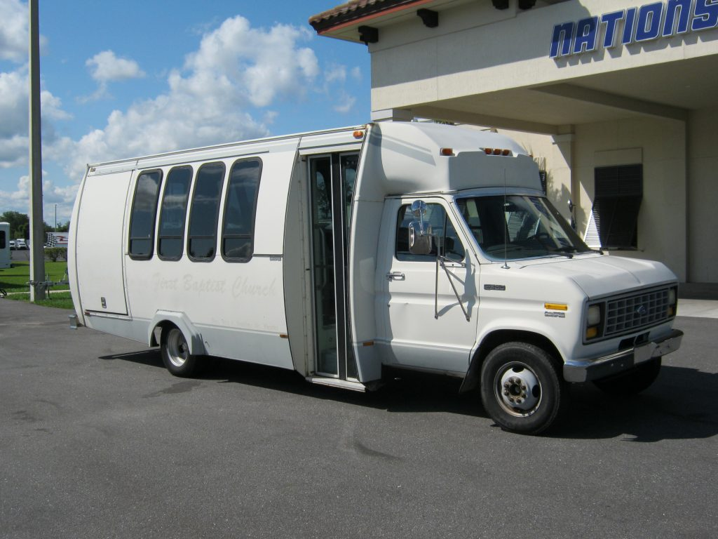 Ford E350 20 passenger charter shuttle coach bus for sale - Gas