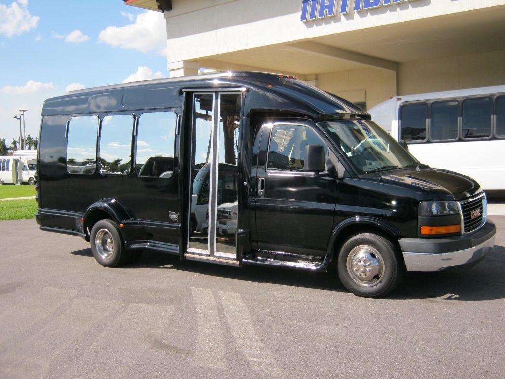 GM C3500 13 passenger charter shuttle coach bus for sale - Gas
