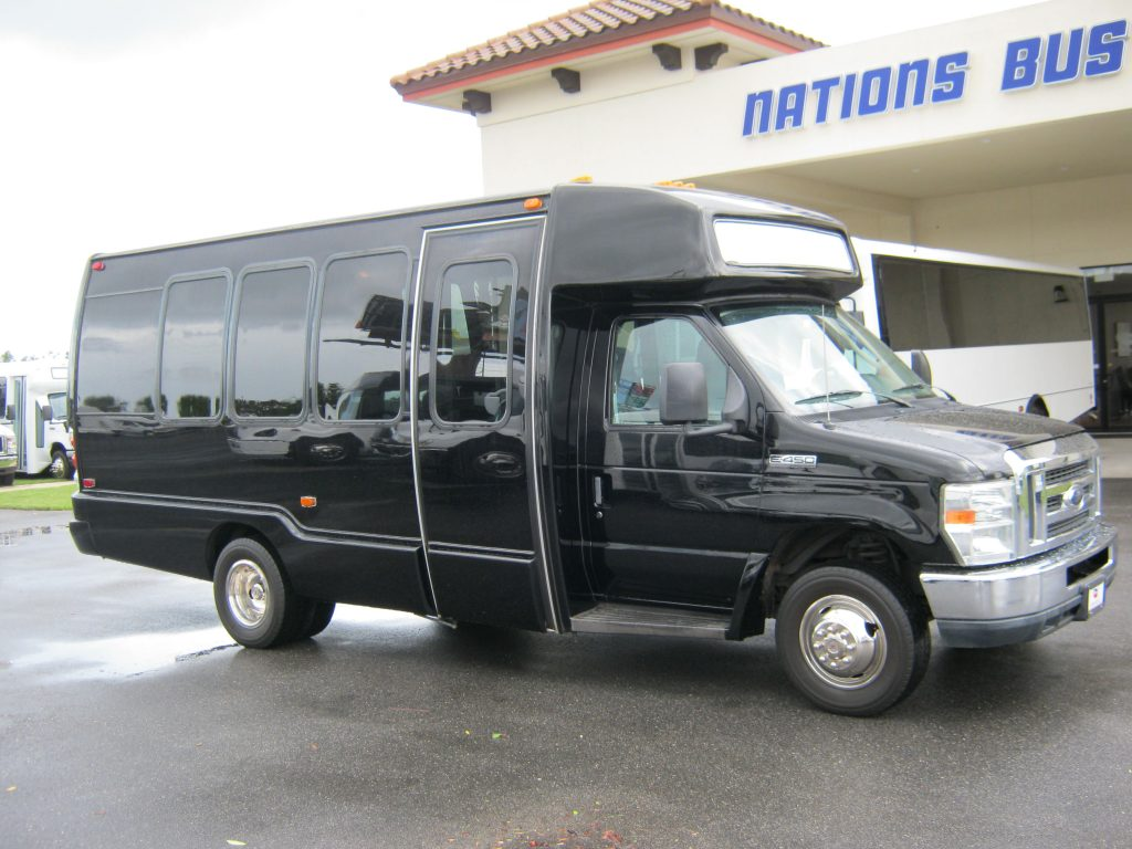 Ford E450 16 passenger charter shuttle coach bus for sale - Gas