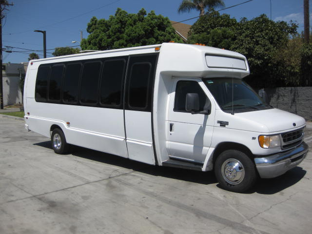 Ford E450 22 passenger charter shuttle coach bus for sale - Gas