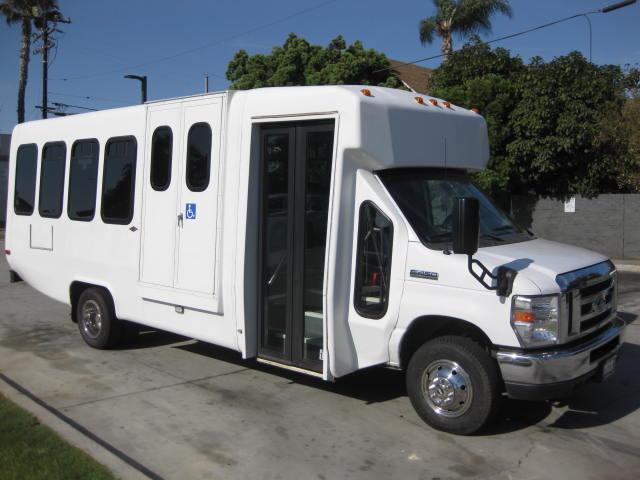 Ford E450 17 passenger charter shuttle coach bus for sale - Propane