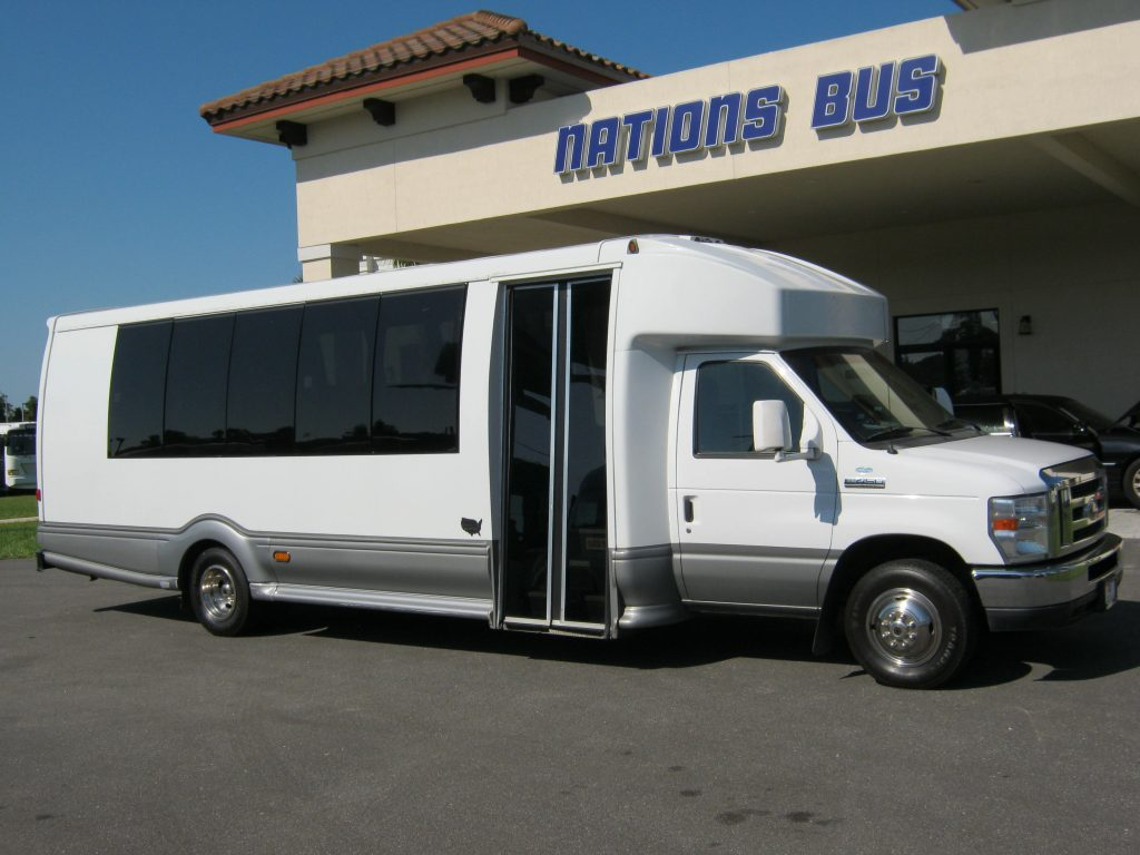 Ford E450 24 passenger charter shuttle coach bus for sale - Gas