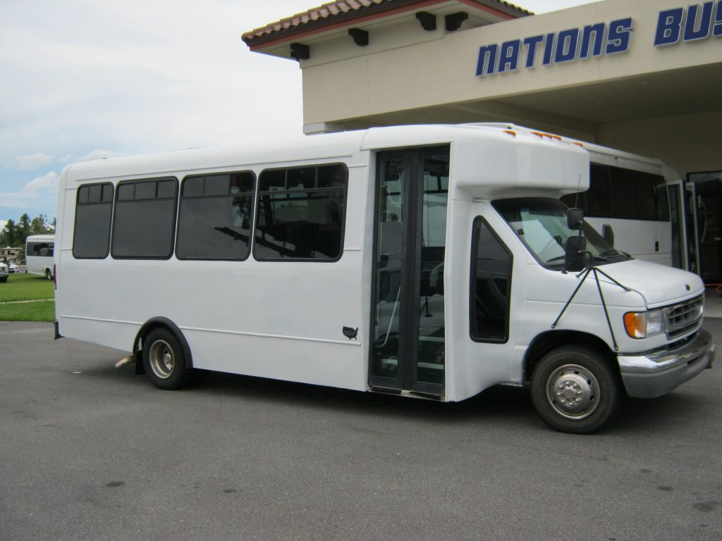 Ford E450 21 passenger charter shuttle coach bus for sale - Diesel