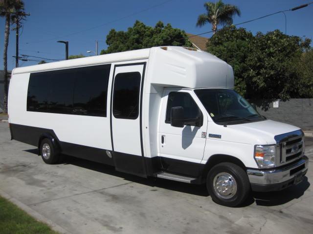 Ford E450 24 passenger charter shuttle coach bus for sale - Gas