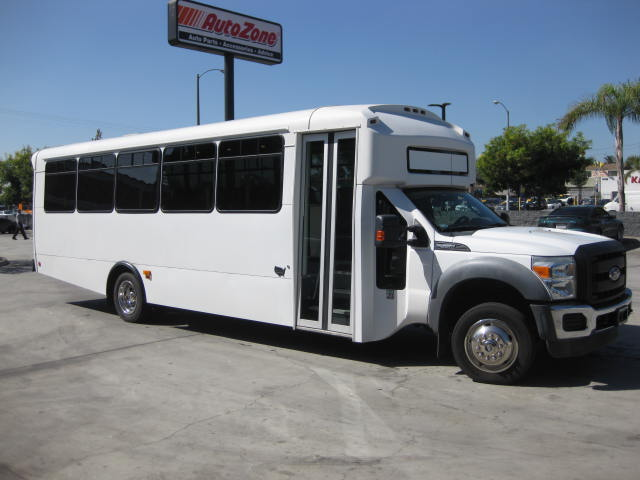 Ford F550 33 passenger charter shuttle coach bus for sale - Diesel