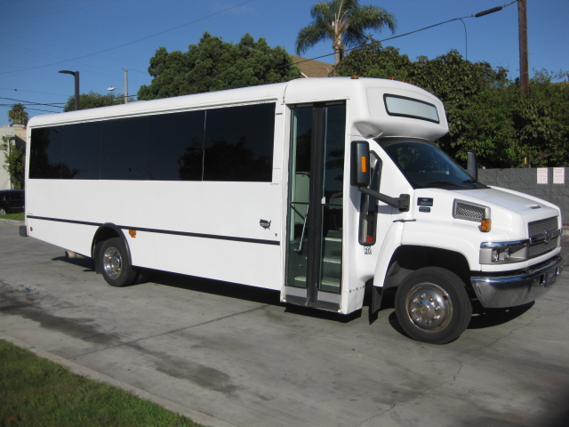 Chevy C5500 33 passenger charter shuttle coach bus for sale