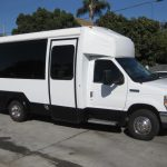 Ford E350 16 passenger charter shuttle coach bus for sale - Gas 1