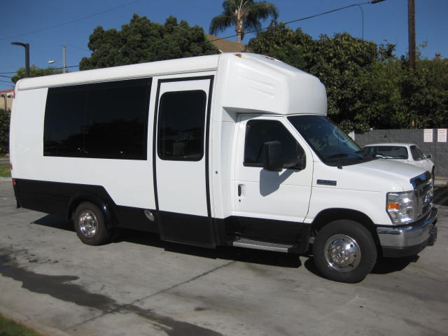Ford E350 16 passenger charter shuttle coach bus for sale - Gas