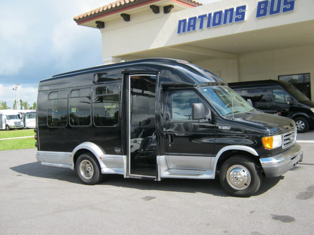 Ford E350 7 passenger charter shuttle coach bus for sale - Gas