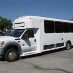 Ford F550 33 passenger charter shuttle coach bus for sale - Diesel 3