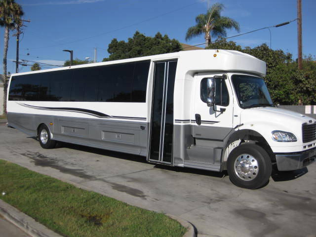 Freightliner M2 47 passenger charter shuttle coach bus for sale - Diesel