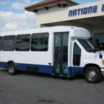 Ford E450 25 passenger charter shuttle coach bus for sale - Diesel 1